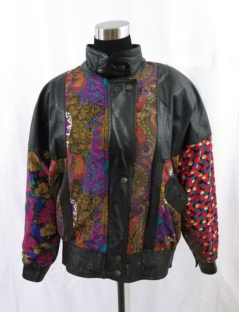Pelle Leather & Nylon Jacket