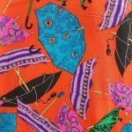 Umbrella Print Silk Bomber Jacket