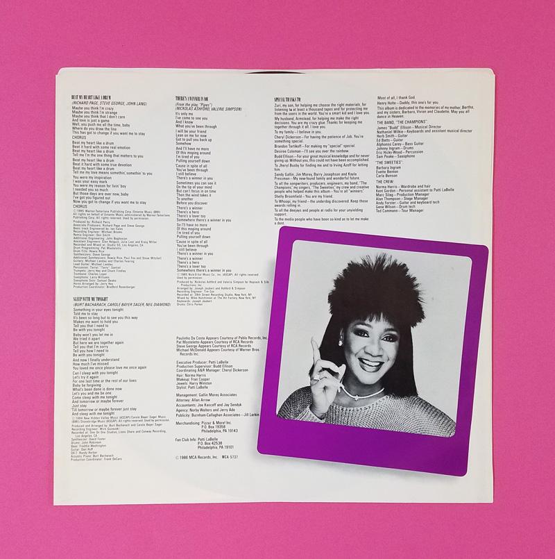 Patti LaBelle Winner In You Vinyl Album Inside
