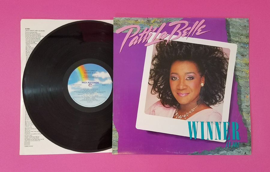 Patti LaBelle Winner In You Vinyl Album Inside Record and Back